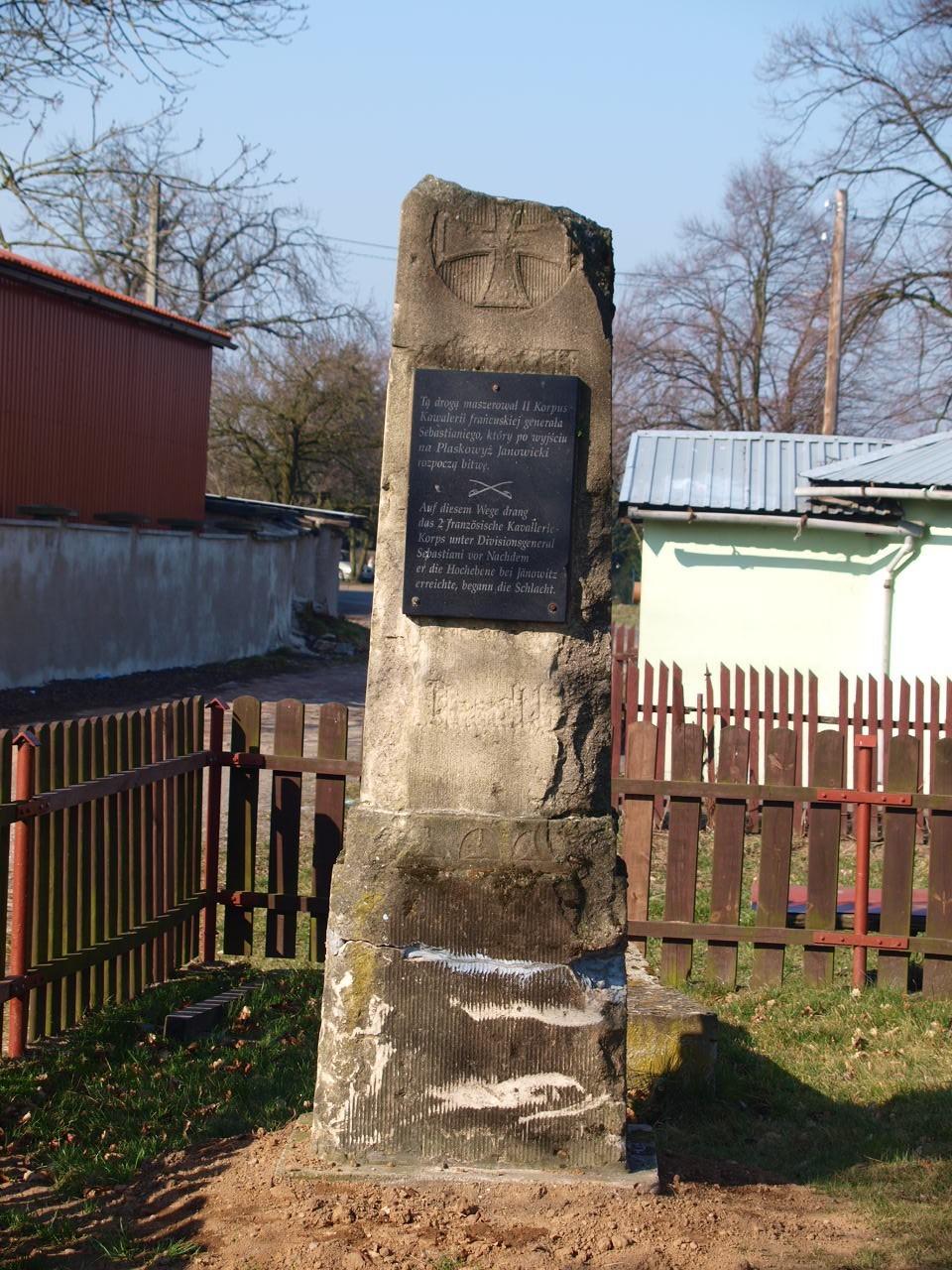 jeden z kilku pomników upamiętniających ważne wydarzenia z bitwy